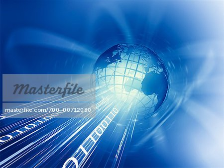 Wire Frame Globe and Binary Stock Photo - Rights-Managed, Image code: 700-00712080