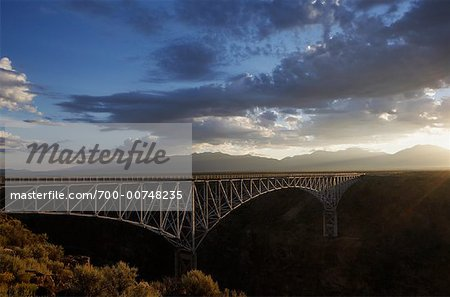 The Rio Grande Gorge Bridge, Taos, New Mexico, USA Stock Photo - Rights-Managed, Image code: 700-00748235