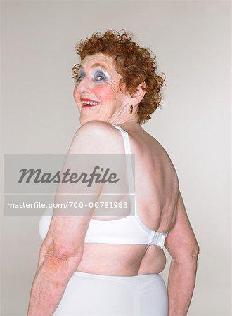 Portrait of Woman in Underwear