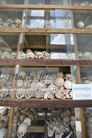Skulls, Memorial of The Killing Fields, Cambodia
