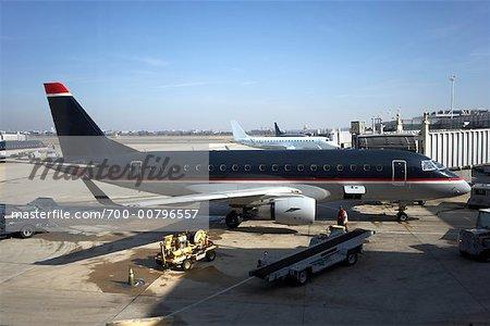 Airplane, Reagan International Airport, Washington, D.C., USA