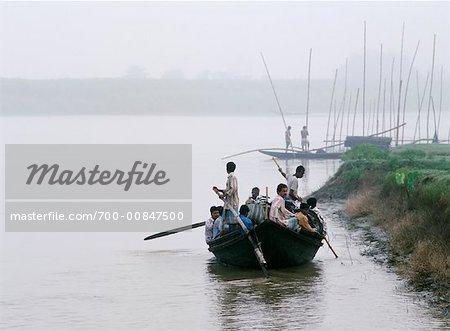 Boat on the Ganges River, West Bengal, India Stock Photo - Rights-Managed, Image code: 700-00847500