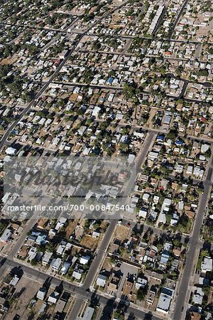 Aerial View of Suburbs Outside Of Albuquerque, New Mexico, USA Stock Photo - Rights-Managed, Image code: 700-00847540