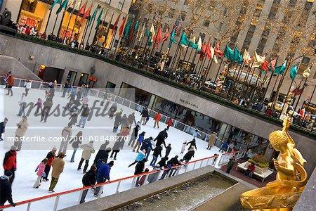 Ice Rink at Rockefeller Center, New York City, New York, USA
