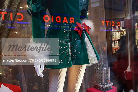 Mannequin in Store Window at Rockefeller Plaza Near Radio City Music Hall, NY, NY, USA Stock Photo - Rights-Managed, Image code: 700-00866896