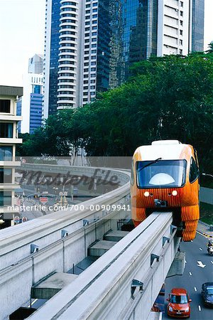 Monorail, Malaysia    Stock Photo - Premium Rights-Managed, Artist: Brian Sytnyk, Code: 700-00909941