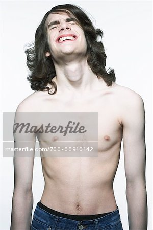 Portrait of Shirtless Man Stock Photo - Rights-Managed, Image code: 700-00910142