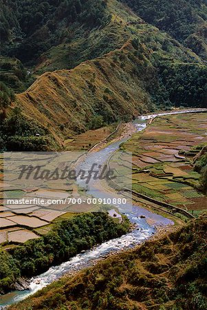 Rice Terraces Along Chico River, Sabangan, Mountain Province, Luzon, Philippines Stock Photo - Rights-Managed, Image code: 700-00910880