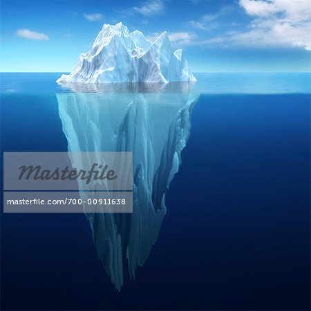 View of Iceberg Underwater Stock Photo - Rights-Managed, Image code: 700-00911638
