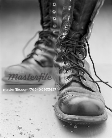 Pair of Old Boots Stock Photo - Rights-Managed, Image code: 700-00933627