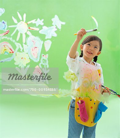 Girl Painting Stock Photo - Rights-Managed, Image code: 700-00934155