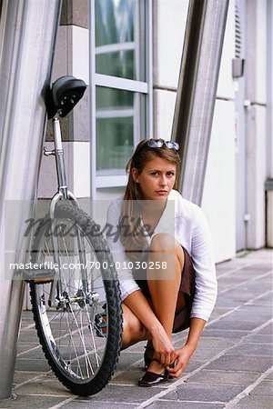 Businesswoman with Unicycle Stock Photo - Rights-Managed, Image code: 700-01030258