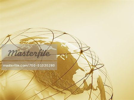 World Globe with Connection Lines Stock Photo - Rights-Managed, Image code: 700-01030280