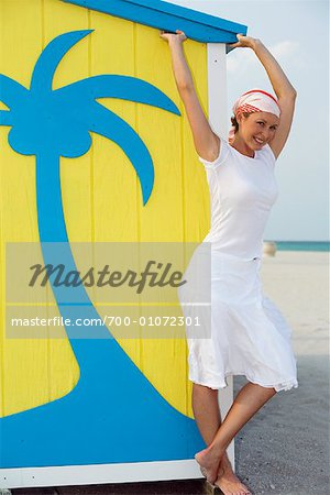 Woman at the Beach Stock Photo - Rights-Managed, Image code: 700-01072301