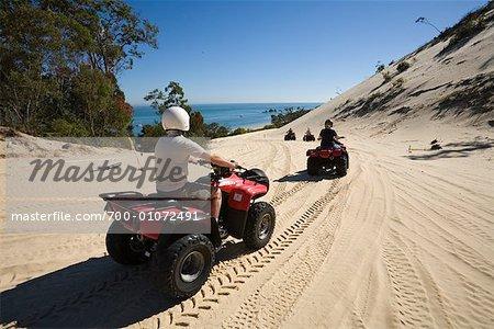 ATVs, Moreton Island, Queensland, Australia