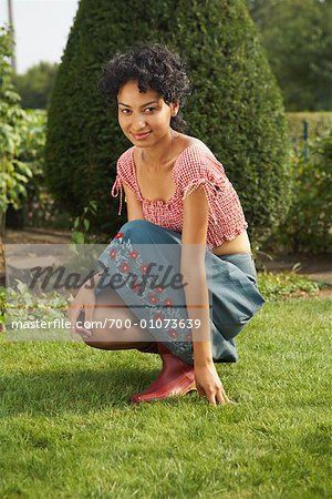 Portrait of Woman Outdoors Stock Photo - Rights-Managed, Image code: 700-01073639