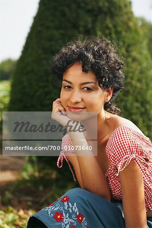 Portrait of Woman Outdoors Stock Photo - Rights-Managed, Image code: 700-01073640