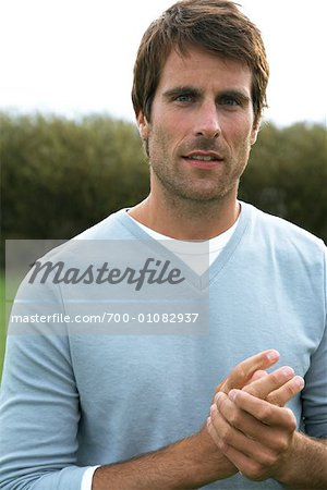 Portrait of Man Outdoors Stock Photo - Rights-Managed, Image code: 700-01082937
