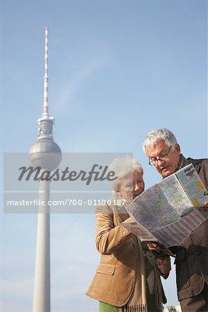 Tourists Looking at Map in Front of the Fernsehturm, Berlin, Germany Stock Photo - Rights-Managed, Image code: 700-01100187
