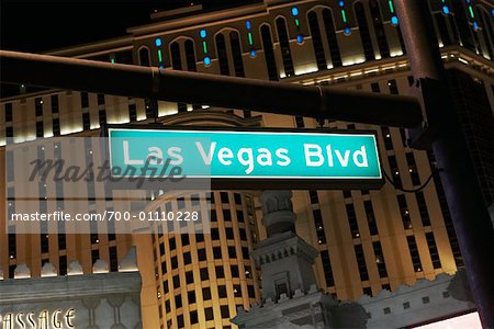 Street Sign, Las Vegas, Nevada Stock Photo - Rights-Managed, Image code: 700-01110228