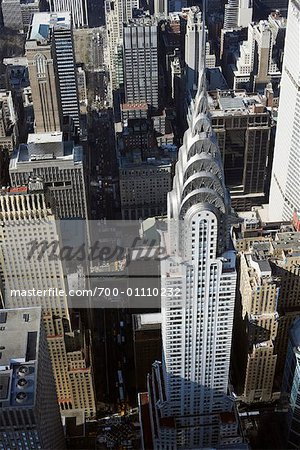 Midtown Manhattan and the Chrysler Building, New York City, New York, USA Stock Photo - Rights-Managed, Image code: 700-01110232