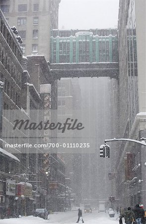 New York City Snowstorm, New York, USA Stock Photo - Rights-Managed, Image code: 700-01110235