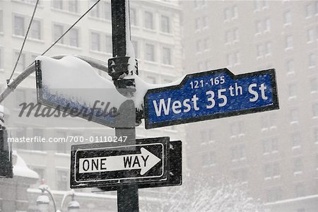 Street Signs, New York City, New York Stock Photo - Rights-Managed, Image code: 700-01110247