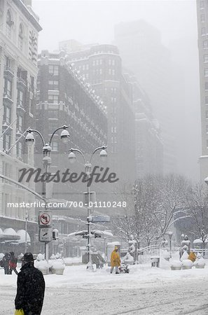 Snowstorm, New York City, New York, USA Stock Photo - Rights-Managed, Image code: 700-01110248