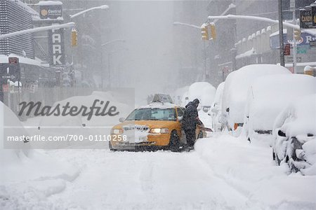 Taxi Stuck in Snow Storm, New York City, New York, USA Stock Photo - Rights-Managed, Image code: 700-01110258