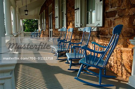 Rocking Chairs on Porch, Audubon House, Mill Grove, Pennsylvania, USA Stock Photo - Rights-Managed, Image code: 700-01111718