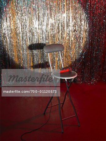 Empty Chair and Microphone on Stage Stock Photo - Rights-Managed, Image code: 700-01120573