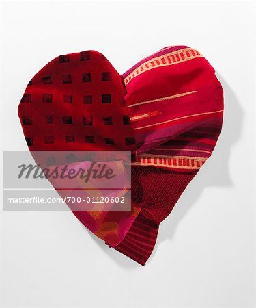 Fabric Heart Stock Photo - Rights-Managed, Image code: 700-01120602