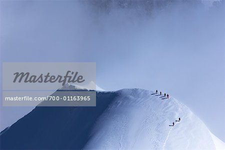Mountain Climbers, French Alps, France Stock Photo - Rights-Managed, Image code: 700-01163965