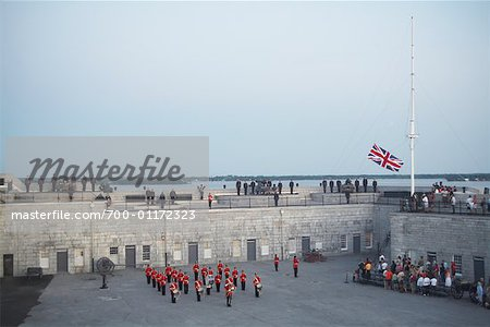 Sunset Ceremony at Fort Henry, Kingston, Ontario, Canada Stock Photo - Rights-Managed, Image code: 700-01172323