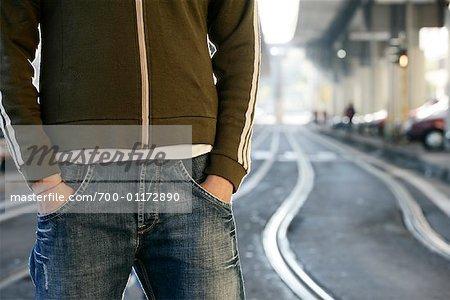 Man Standing Outdoors