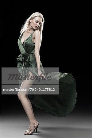 Portrait of Woman Wearing Dress