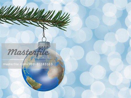 Earth Globe Christmas Ornament