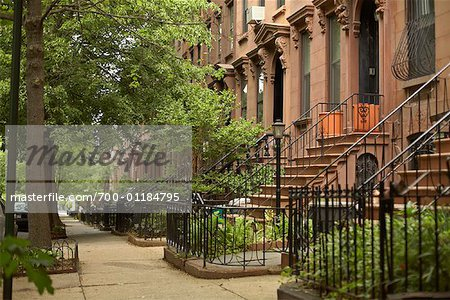 Brownstones, Brooklyn, New York, USA Stock Photo - Rights-Managed, Image code: 700-01184795