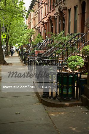 Brownstones, Brooklyn, New York, USA Stock Photo - Rights-Managed, Image code: 700-01184796