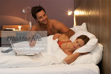 Couple in Bed Stock Photo - Rights-Managed, Image code: 700-01185144