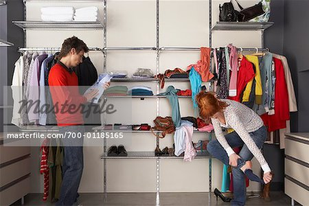 Couple Getting Ready Stock Photo - Rights-Managed, Image code: 700-01185165