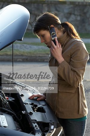 Woman With Car Trouble Stock Photo - Rights-Managed, Image code: 700-01194739