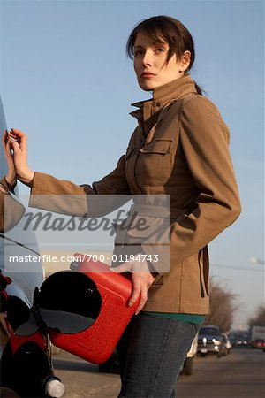 Woman Filling Gas Tank Stock Photo - Rights-Managed, Image code: 700-01194743