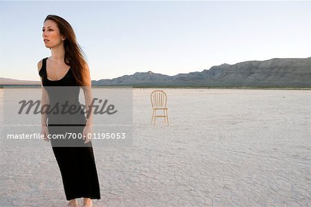 Woman Standing in the Desert Stock Photo - Rights-Managed, Image code: 700-01195053