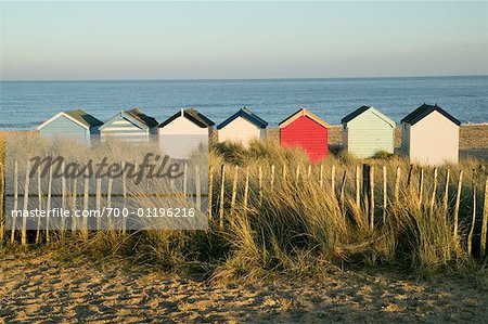 Beach Huts, Southwold, England Stock Photo - Rights-Managed, Image code: 700-01196216
