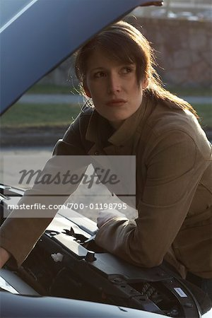 Woman Having Car Trouble Stock Photo - Rights-Managed, Image code: 700-01198795