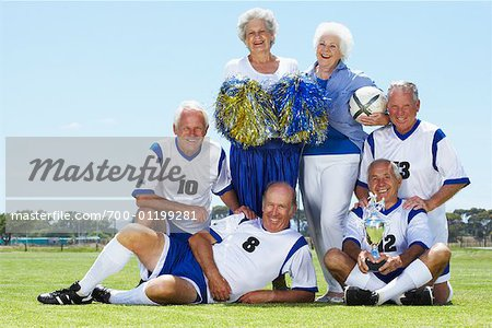 Portrait of Soccer Players and Cheerleaders Stock Photo - Rights-Managed, Image code: 700-01199281
