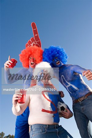 Sports Fans Cheering Stock Photo - Rights-Managed, Image code: 700-01199360