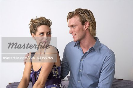Couple Looking at Each Other Stock Photo - Rights-Managed, Image code: 700-01199759