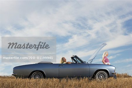 Women with Stalled Car Stock Photo - Rights-Managed, Image code: 700-01199941